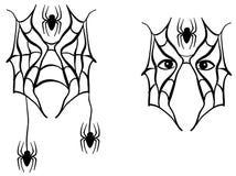 Peinture de visage d'araignée décorative Photographie stock