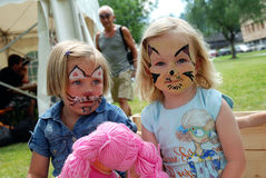 Peinture de visage d'enfants Images libres de droits