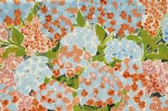 Peinture des fleurs de hortensia Photos stock