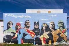 Peinture des héros de bande dessinée Photos libres de droits