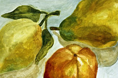 Peinture des poires Images libres de droits