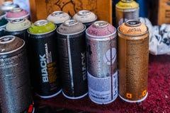 Peinture des pulvérisateurs, pulvérisateurs de pluie Photographie stock