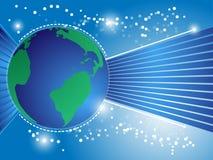 Peinture du globe background Image libre de droits