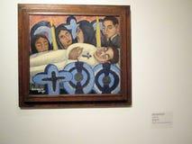 Peinture du sillage Manuel RodrÃguez Lozano Exposition moderne du Mexique Avant-garde et révolution - Museo MALBA illustration stock