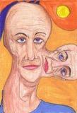 Peinture du visage d'un homme Photographie stock libre de droits