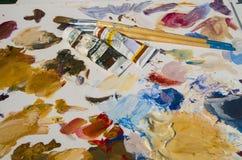 Peinture en cours Photo libre de droits