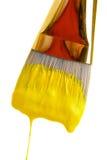 Peinture en jaune Photographie stock