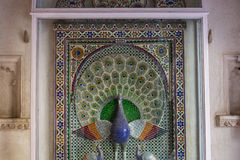 Peinture en verre de paon Image libre de droits