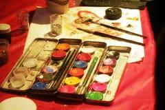 Peinture et balai Images libres de droits