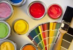 Peinture et décoration - conception intérieure Image stock