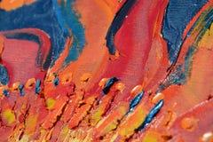 Peinture fabriquée à la main abstraite Photos libres de droits