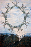 Peinture grunge sur le fond en métal Photos libres de droits