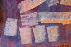 Peinture grunge sur le métal Image libre de droits