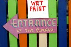 Peinture humide photographie stock