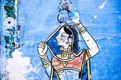 Peinture indienne Photographie stock