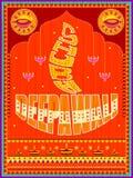 Peinture indienne colorée de camion sur la carte heureuse de Diwali pour le festival de la lumière de l'Inde Photographie stock libre de droits