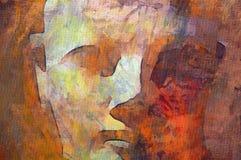 Peinture initiale de statue de Hatshepsut Photographie stock libre de droits