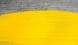 Peinture jaune Photos stock