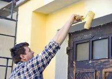 Peinture jaune Image libre de droits