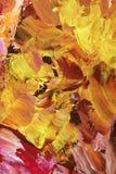 Peinture jaune-orange abstraite Image libre de droits