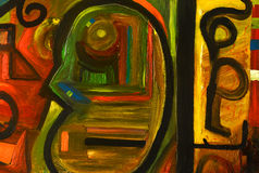 Peinture à l'huile abstraite Photos stock