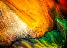 Peinture liquide abstraite avec la texture Photo stock