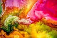 Peinture liquide abstraite avec la texture Images stock