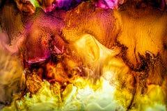 Peinture liquide abstraite avec la texture Photos libres de droits