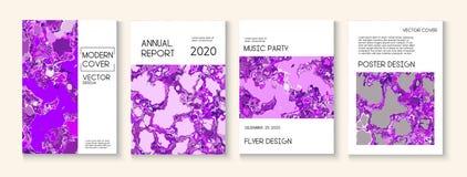 Peinture liquide, Clay Texture Vector Cover Layout Magazine ? la mode, calibre d'affiche de musique Affiche moderne d'?cologie de illustration de vecteur