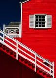 Peinture lumineuse de couleur sur l'extérieur de maison Photographie stock