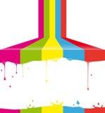 Peinture multicolore illustration de vecteur