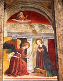 Peinture murale à l'intérieur de Panthéon Rome Images stock