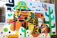 Peinture murale à Las Vegas du centre Images libres de droits