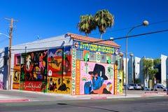 Peinture murale à Las Vegas du centre Photo libre de droits