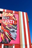Peinture murale à Las Vegas du centre Image libre de droits