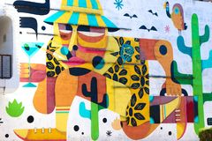 Peinture murale à Las Vegas du centre Images stock