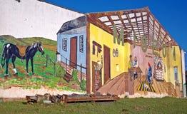 Peinture murale agricole extérieure de mur de musée Photo libre de droits