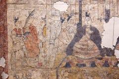 Peinture murale antique dans la tombe photos libres de droits