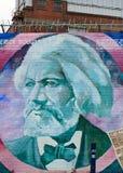 Peinture murale avec Frederick Douglass, Belfast, Irlande du Nord photos stock