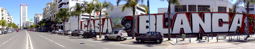 Peinture murale, Casablanca, Maroc Photo stock