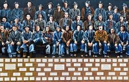Peinture murale commémorative honorant les mineurs de cuivre photographie stock