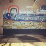 Peinture murale d'arc-en-ciel Photo libre de droits