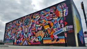 Peinture murale d'Atlanta Summerhill image libre de droits