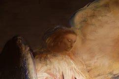 Peinture murale d'un ange Images libres de droits