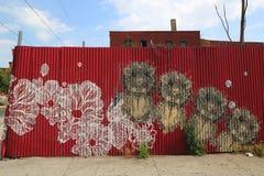 Peinture murale dans la section rouge de crochet de Brooklyn Image libre de droits