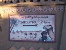 Peinture murale dans la ville de Zagora d'Africain au Maroc, moyens : 52 jours vers Tombouctou au Mali à pied ou le chameau image libre de droits