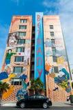 Peinture murale dans le voisinage de secteur de mission à San Francisco photographie stock libre de droits