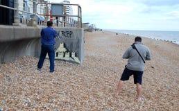 Peinture murale de Banksy, St.Leonards Photographie stock libre de droits