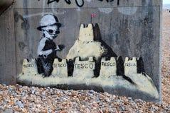 Peinture murale de Banksy, St.Leonards Images stock