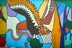 Peinture murale de condor Photographie stock